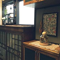 玄関/入り口/ドライフラワー/ウイリアムモリスの壁紙/タイサンボクリトルジェム/大正ロマン好き...などのインテリア実例 - 2018-05-30 10:03:40