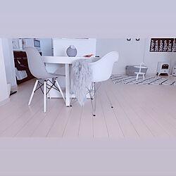 ダイニング丸テーブル/ダイニングテーブル/グレー/シンプル/グレーホワイトインテリア...などのインテリア実例 - 2020-02-13 14:40:35