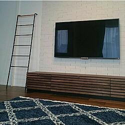 部屋全体/テレビボード/見せる収納/ホワイト/壁...などのインテリア実例 - 2018-03-09 23:32:05
