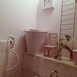 バス/トイレ/雑貨/バケツ/タオルハンガーのインテリア実例 - 2013-06-21 07:59:23