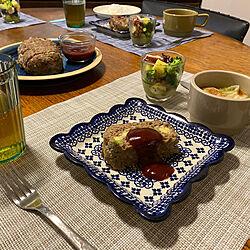 ポーランド食器/テーブルコーデ/食器/おうちごはん/晩ご飯...などのインテリア実例 - 2020-07-05 07:32:25