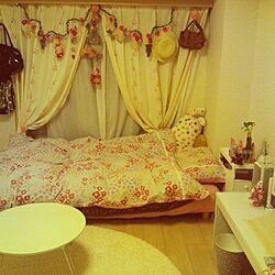 ベッド周り/ひとり暮らしのインテリア実例 - 2013-03-25 00:12:11