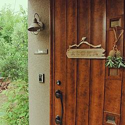 玄関/入り口/ハンドメイド/DIY/RoomClipドラマ化/西海岸...などのインテリア実例 - 2018-08-11 08:22:14