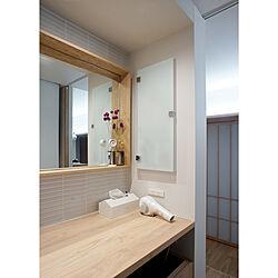 洗面所の鏡/洗面台/ドライヤー収納/ドライヤー置き場/鏡...などのインテリア実例 - 2020-02-10 11:43:58
