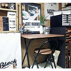 机/新しい机♥/折り畳み式/作業机/risaちゃんのポスター♡のインテリア実例 - 2016-09-02 10:42:57