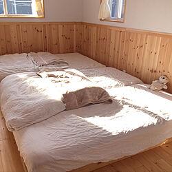ベッド周り/板張りの壁/Nウォームは暖かい。/無印良品/ナチュラル...などのインテリア実例 - 2017-11-26 08:53:59