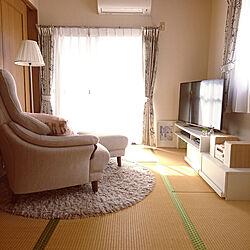 部屋全体/和室/和室をリビングに!/ニトリ/テレビボード...などのインテリア実例 - 2020-01-31 12:43:25