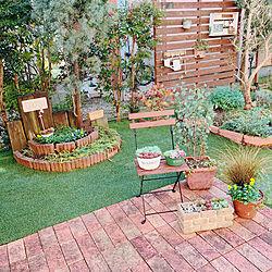 ラティスフェンス/手作り花壇/庭のある暮らし/デザイン収納庫/物置...などのインテリア実例 - 2019-11-06 20:32:18