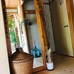 フェイクグリーン/模様替え/木の家/ヒノキの床/日本家屋...などのインテリア実例 - 2019-05-26 11:34:35