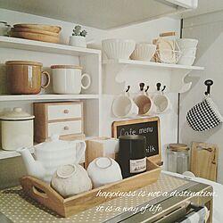 キッチン/お茶セット/セリア/ダイソー/3coinsのインテリア実例 - 2016-03-16 13:11:22