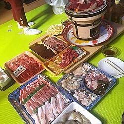 キッチン/今日の晩ご飯は焼肉です。/いいね&フォローありがとうございます☆/よろしくお願いします(´ ˘ `๑)♡/皆さんいつもありがとう♡...などのインテリア実例 - 2017-03-18 19:49:54