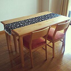 リビング/テーブルランナー/マリメッコ/ダイニングテーブル&チェアのインテリア実例 - 2017-04-12 11:04:24