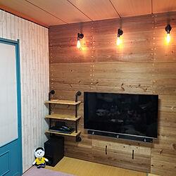 壁/天井/壁紙DIY/足場板/足場板DIY/壁紙はりかえ...などのインテリア実例 - 2020-10-21 11:12:16