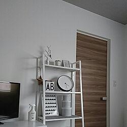 ベッド周り/寝室/アクセントクロスグレー/IKEA/インテリア雑貨...などのインテリア実例 - 2018-04-30 16:33:13