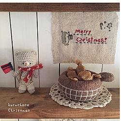 羊毛フェルト/クリスマス/ほっこり*/p..cちゃん♪/棚...などのインテリア実例 - 2020-12-19 11:19:20