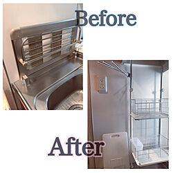キッチン/意味不明な設計/食洗機は必要ないよ/水切り棚/賃貸...などのインテリア実例 - 2018-10-30 11:06:49