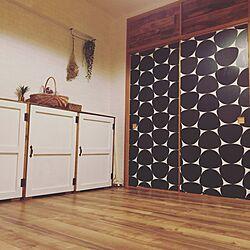 壁/天井/ふすまに壁紙/男前もナチュラルも好き/壁紙/スノコ棚DIY...などのインテリア実例 - 2016-06-17 23:26:59