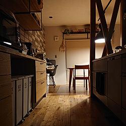 キッチン/ペンダント照明/表し柱/インダストリアルインテリア/いいね、フォロー本当に感謝デス☺︎...などのインテリア実例 - 2021-09-23 01:30:07
