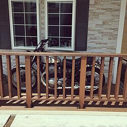バイクのある暮らし/バイク好き/バイク/アメリカン/ナンバープレート...などのインテリア実例 - 2020-05-16 11:41:36