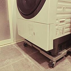 ドラム式洗濯機/家事ラク/ランドリールーム/キャスター付き洗濯機置き台/名もなき家事...などのインテリア実例 - 2020-10-23 23:24:12
