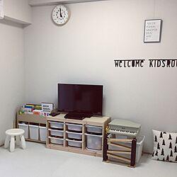 部屋全体/トロファスト/レムノス/IKEA/ジョイントマット...などのインテリア実例 - 2017-03-14 14:00:45