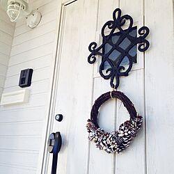 玄関/入り口/玄関 クリスマス/玄関/玄関照明/リースのインテリア実例 - 2014-12-09 09:25:00