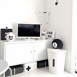 棚/子供部屋/IKEA/モノトーン/暮らし...などのインテリア実例 - 2016-01-10 00:00:15