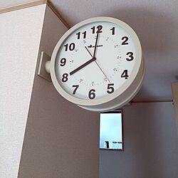 壁/天井/両面時計/ダルトン/ダルトン好き♡のインテリア実例 - 2016-04-22 08:05:57