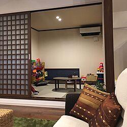 琉球畳/和室/子供のスペース/おもちゃスペース/畳コーナー...などのインテリア実例 - 2016-12-16 18:14:04