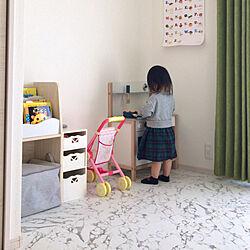 こどものいる暮らし/おもちゃ収納/子供部屋/ベッド周りのインテリア実例 - 2021-02-15 18:54:35