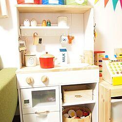 キッチン/キッズスペース/おもちゃ/北欧インテリア/手作り...などのインテリア実例 - 2014-02-15 21:51:21