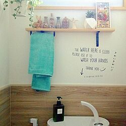 バス/トイレ/toilet display/wood/Scandinavianstyle/typography...などのインテリア実例 - 2017-02-25 17:50:18