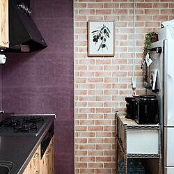 キッチン/コレ、DIYしたよ!/レンガ風/ハッテミースクエア/ポスター...などのインテリア実例 - 2021-05-12 09:28:25