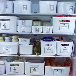 キッチン/♡好きな物に囲まれた暮らし♡/ナチュラル/冷蔵庫収納/自己満です...などのインテリア実例 - 2021-06-07 12:34:52