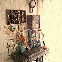 あるもんで作る/古道具/アンティーク加工/ラスティック/DIY棚...などのインテリア実例 - 2018-02-26 09:12:29