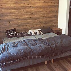 ベッド周り/DIY/収納/IKEA/アイアンのインテリア実例 - 2017-07-09 11:25:19