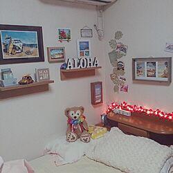 部屋全体/アロハ部/ハワイ/DIY/シェルフ...などのインテリア実例 - 2014-12-02 00:43:33