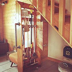 ハンドメイド/DIY/収納棚/そうじ用具/階段下スペース...などのインテリア実例 - 2019-08-18 22:10:42