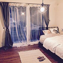 ベッド周り/ニトリ/IKEA/salut!/照明...などのインテリア実例 - 2017-08-26 02:02:41