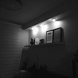 壁/天井/モノトーンインテリア/ホワイト化/グレーインテリア/ポスター...などのインテリア実例 - 2017-12-29 01:27:53
