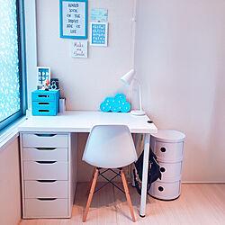 机/IKEA デスクライト/デスクライト/イームズチェアリプロダクト/イームズチェア...などのインテリア実例 - 2018-10-31 21:28:33