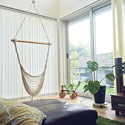 ベッド周り/ハンモックチェア/アクタス/ソファーでくつろぎながら‥/植物...などのインテリア実例 - 2016-06-14 17:51:00