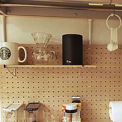 キッチン/有孔ボード DIY/DIY/セリア/一人暮らしのインテリア実例 - 2017-10-30 23:38:02