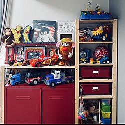 子供部屋男の子/おもちゃ収納/IKEA/棚のインテリア実例 - 2021-05-16 08:29:26