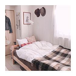 寝具/クッションカバー/クッション/ひとり暮らし/1K...などのインテリア実例 - 2019-12-03 18:09:05
