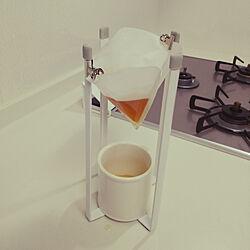 キッチン/掲載して頂きました☆/コーヒーフィルター/キッチンエコスタンド/油こしのインテリア実例 - 2018-12-17 18:20:28