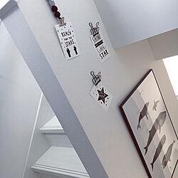 壁/天井/ポストカード/ポスター/階段/ホワイトインテリア...などのインテリア実例 - 2018-06-24 11:16:31