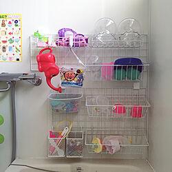 バス/トイレ/ワイヤーネット収納/お風呂のおもちゃ収納/おもちゃ収納/お風呂のおもちゃ...などのインテリア実例 - 2018-10-13 00:56:33