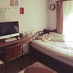 部屋全体/6畳/1K/せまい部屋/一人暮らし...などのインテリア実例 - 2016-09-25 11:32:59