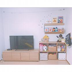 リビング/おもちゃ収納/壁に付けられる家具/gg*/スタッキングキャビネット...などのインテリア実例 - 2017-07-25 06:46:29